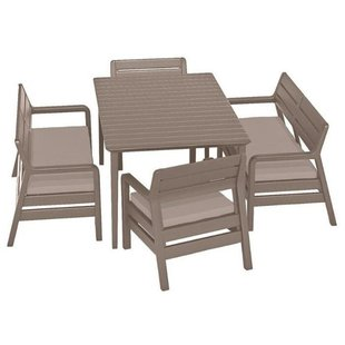 Комплект мебели Allibert Delano Set With Lima Table 160 (2 дивана, 2 кресла, стол)
